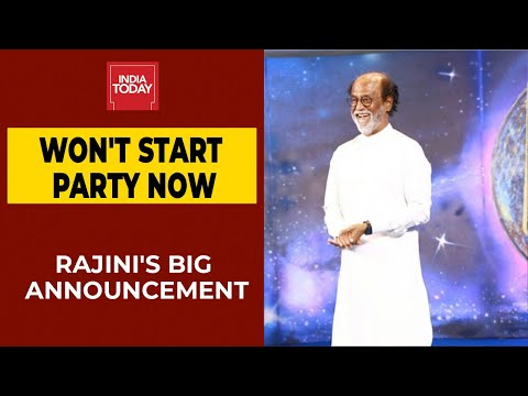 Rajinikanth Announces He Will Not Start A Political Party After Warning From God | Breaking News