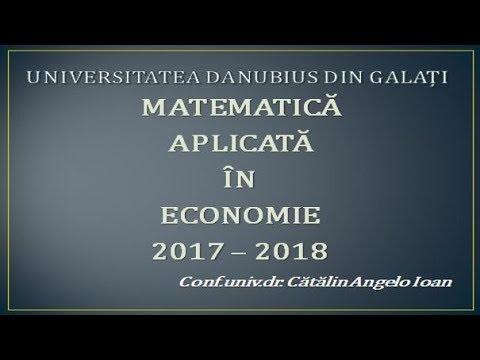 Matematica aplicata in economie 2017 2018   cursul 01