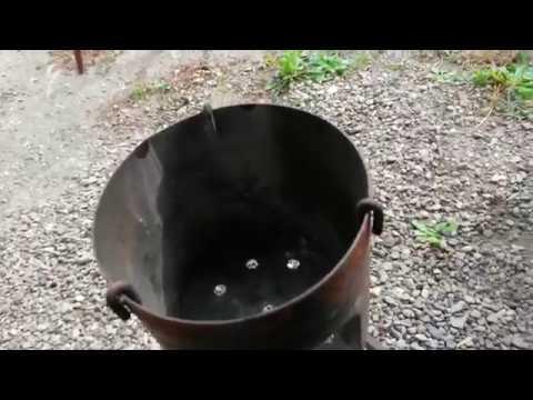 Простейшая печь для казана из газового балона