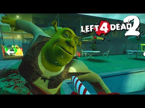 SHREK RAMPAGE! - Left 4 Dead 2 Mods (Funny Moments and Fails)