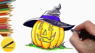 Как Нарисовать Тыкву на Хэллоуин - Рисунки на Хэллоуин