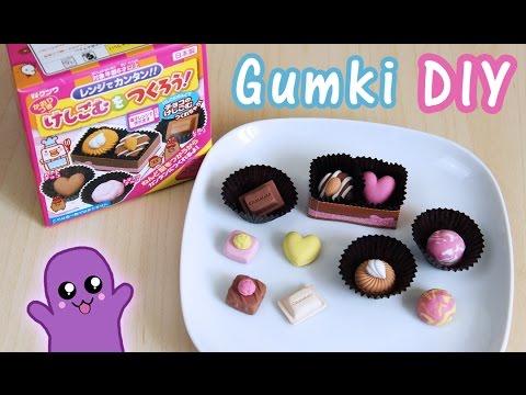 Gumki do ścierania DIY praliny - Kutsuwa eraser kit #1