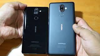 Nokia 8 Sirocco vs Nokia 7 Plus: Size, Design & Build quality comparison