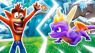Сборник видео обзоров игр - Крэш Бандикут против Дракона Спайро! – Новый Летсплей в гейм шоу с Нубом