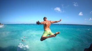 Epic Cliff Jumping in Barbados