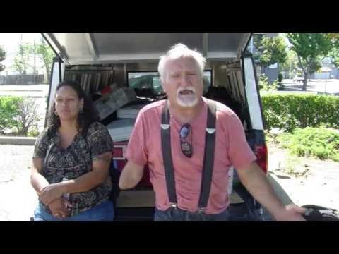 Shower Shuttle interviews with 6 beautiful homeless residents of Modesto,Ca. 7-11-16