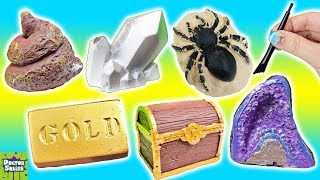 DIG It Bar Haul! Bugs, Gold and Dino Poop?! Doctor Squish