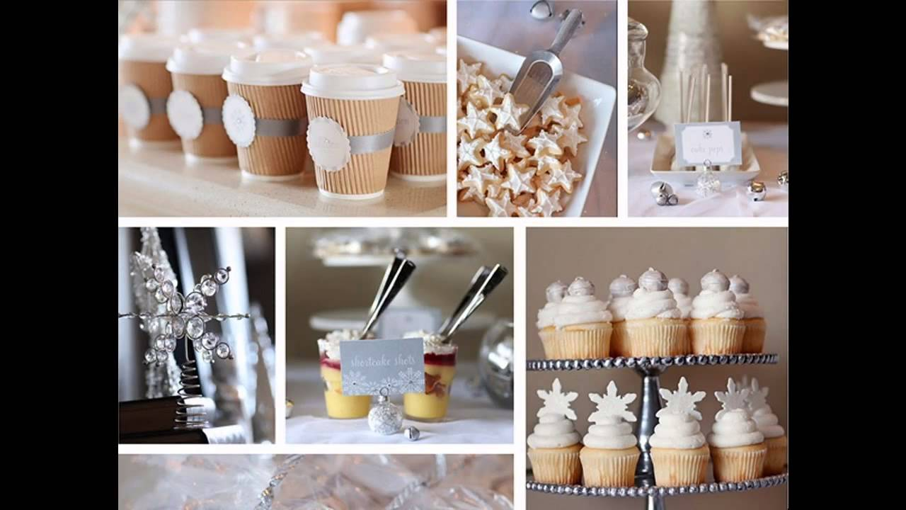 Winter theme baby shower decorations ideas - YouTube