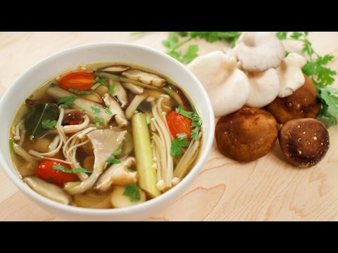 Mushroom Tom Yum Recipe (veg) ต้มยำเห็ด – Hot Thai Kitchen!