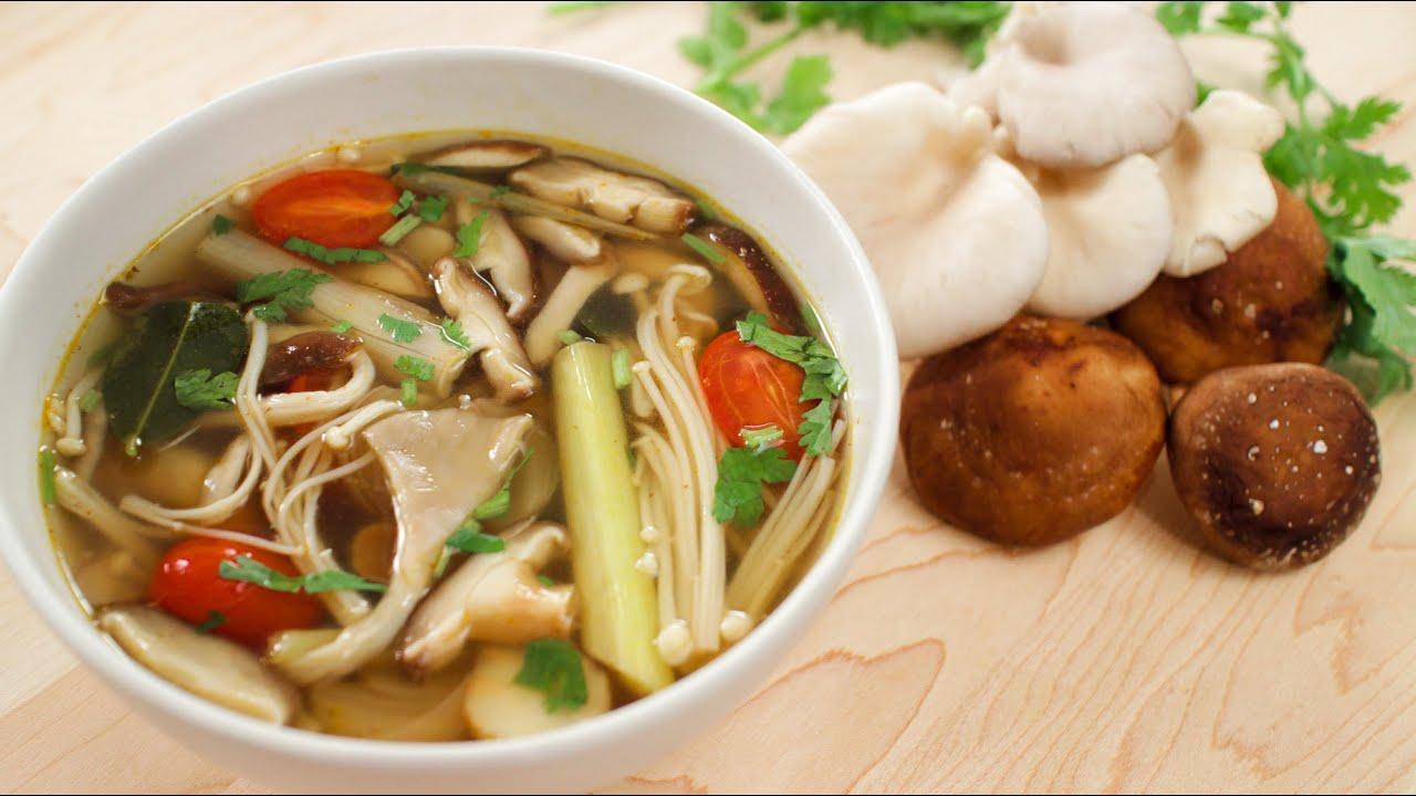 Mushroom Tom Yum Recipe (veg) ต้มยำเห็ด - Hot Thai Kitchen ...