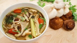 Mushroom Tom Yum Recipe (veg) ต้มยำเห็ด - Hot Thai Kitchen!