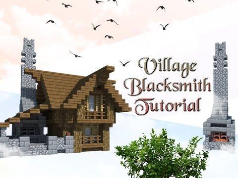 Minecraft Tutorial: How To Build A Village Blacksmith!