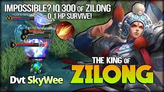 0.1% HP 1 vs 3? Impossible FIGHTBACK!! IQ 300 of Zilong by SkyWee - Mobile Legends