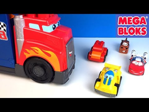 FISHER PRICES MEGA BLOCKS FIRST BUILDERS FAST TRACKS RACING RIG MIX AND MATCH LEGO DUPLO DISNEY