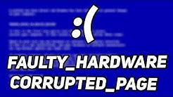Fix: FAULTY_HARDWARE_CORRUPTED_PAGE error on Windows 10