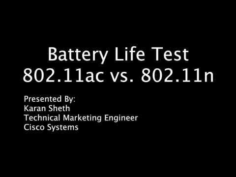 Battery Life Test - Cisco 802.11ac vs Cisco 802.11n