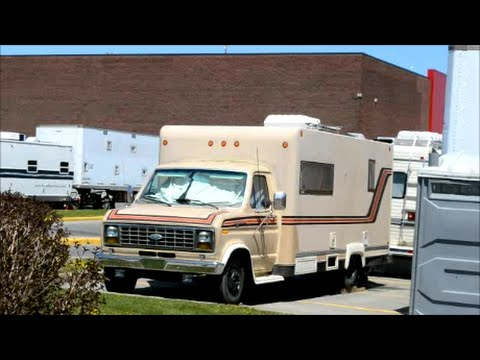Old Ford Cube Truck Turned Into Camper Sighting Youtube