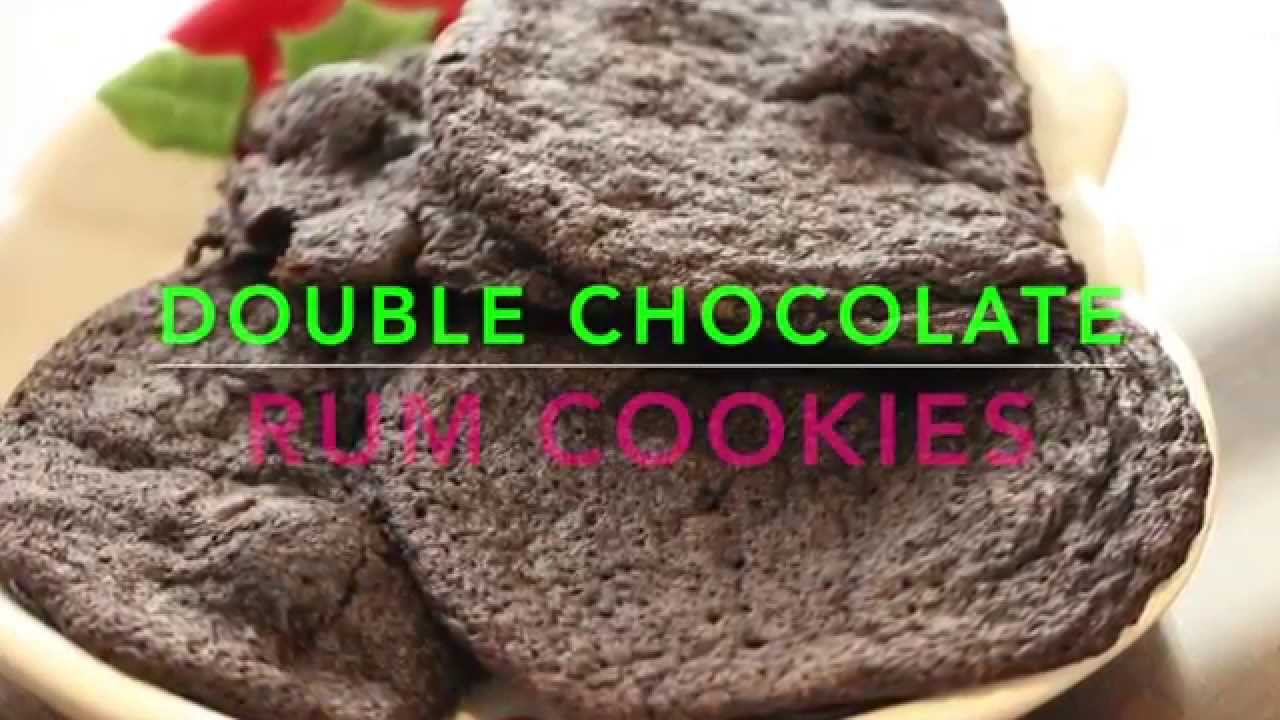 Christmas Double Chocolate Rum Cookie Recipe Cheryls Home Cooking