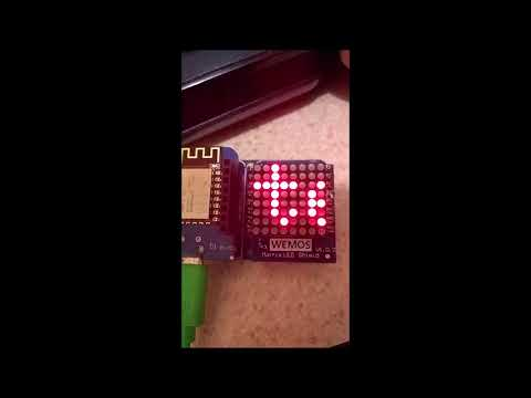 Simple Moving Message WiFi display using MQTT and D1 Mini