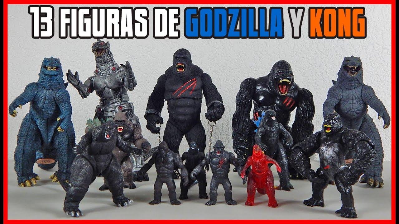 Godzilla VS Kong Mini colección de 13 figuras: Bootlegs mexicanos y Originales de Playmates