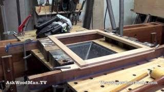 22 Four Drawer Bedside Table • Making Frame For Case Back