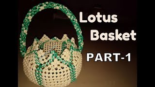 Lotus-Pooja Basket PART-1 in Kannada | Bangalore Basket | BasketMaking | Oval Basket