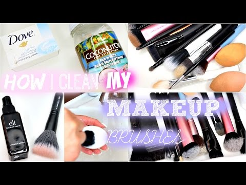 How I Clean My Makeup Brushes - Blissfulbrii - 동영상