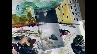 """Уроки рисования (№ 149). Рисуем картину """"Народные выступления"""" - картина в картине"""