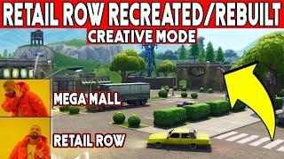 Retail Row CREATIVE CODE ! - Retail Row Recreated/Rebuilt In Fortnite !!