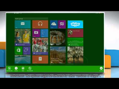 How to uninstall Skype® app from your Windows® 8.1 based PC