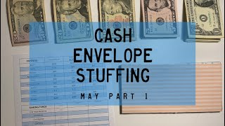 Cash Envelope Stuffing, May pt. 1 | PARKOO Giveaway | BudgetWithBri