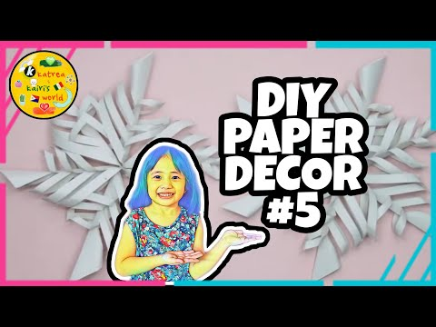 Paper Craft Ideas | Easy Steps | DIY Room Decor | Paper Decor| #05