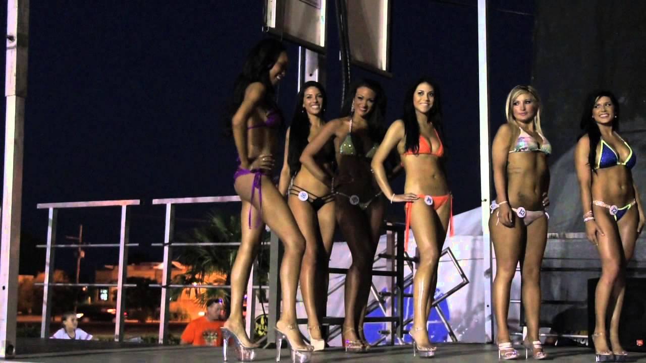 Hooters bikini contest clips