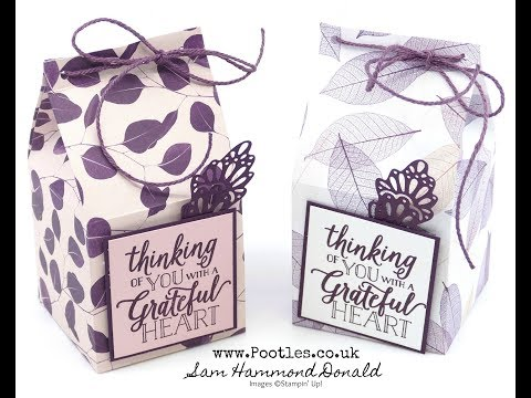 Stampin' Up! Nature's Poem Milk Carton Box Tutorial - วันที่ 03 Oct 2018
