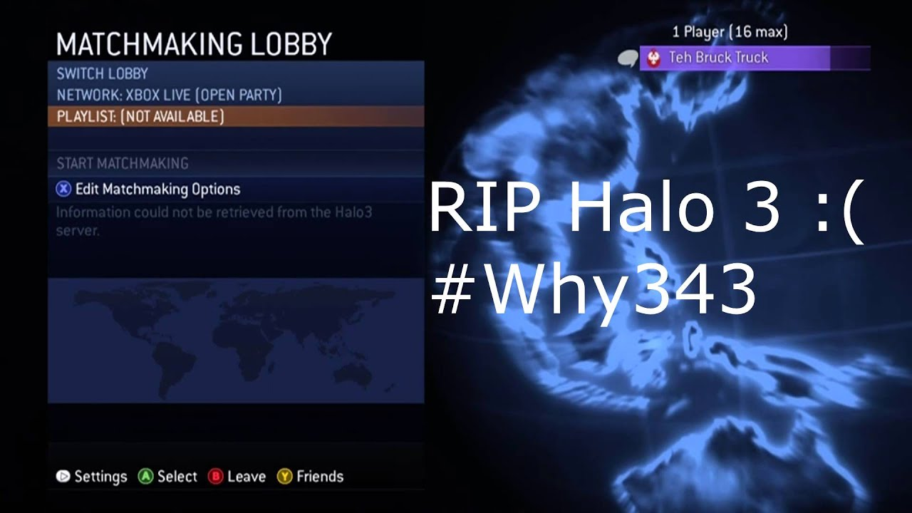 halo 3 matchmaking lag When halo: the master chief collection released, is not only  what's odd is that  only one of the two people experienced lag,  the matchmaking issues stemmed  from the fact that the game wasn't tested using real-world conditions  along  with halo: combat evolved anniversary, halo 3, and halo 4.