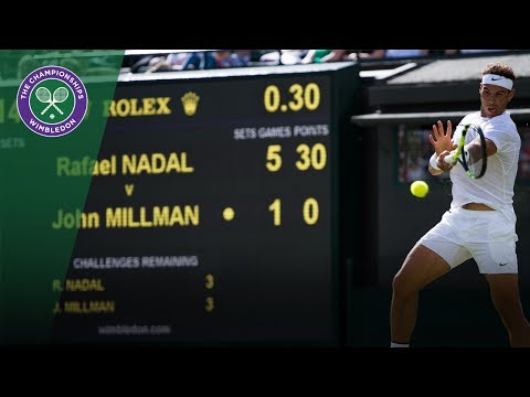 Rafael Nadal v John Millman highlights - Wimbledon 2017 first round