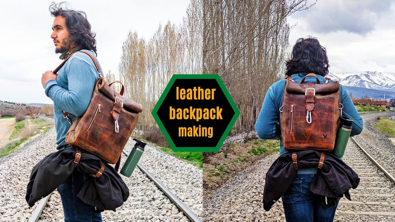 Leather Backpack Making,PDF Pattern, ,Leather Bag Pattern, Bag making