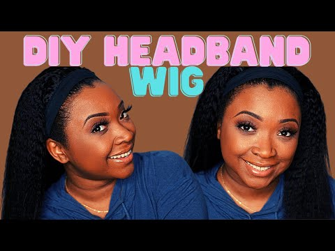 How to make a headband wig tutorial/Kinky straight