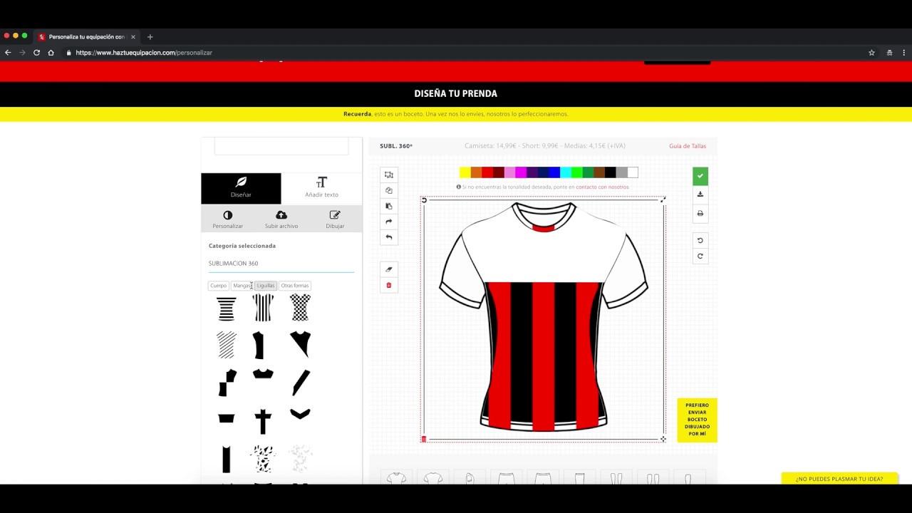 Calibre Dependencia La risa  Portal para Personalizar Equipacion Futbol Online