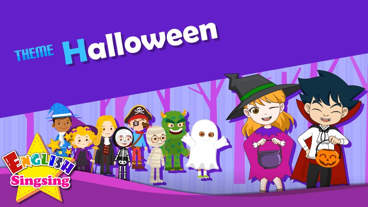 theme halloween trick or treat esl song story learning