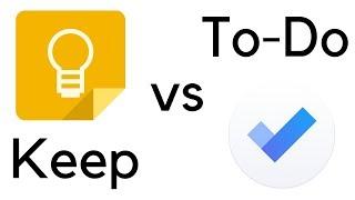 Google Keep vs. Microsoft To-Do