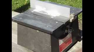 Dremel 4 inch table saw  from estate sale test