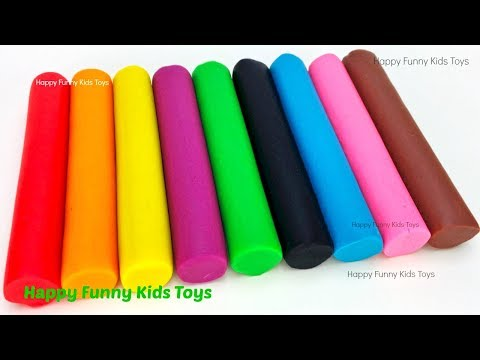 Learn Colors with Play Doh Modelling and Molds, Surprise Toys Kitty in My Pocket Ooshies Yowie