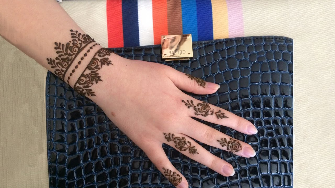 Simple Wrist Mehndi : Simple wrist henna design pinteres tattoos