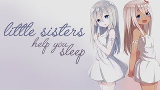 [ASMR] Twin Little Sisters Help You Sleep [Voice Acting] [Binaural] [Soft Sleeping Sounds]