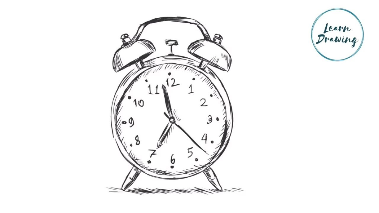 How to draw a Alarm Clock Step by Step|Easy Drawing