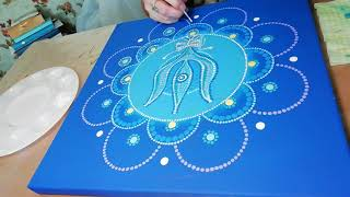 Dot painting mandala 30x30 cm. Acrylic Painting. Fragment