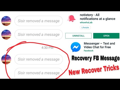 How To Recover Facebook Delete Message 2019 Tricks || Facebook Messenger New Features