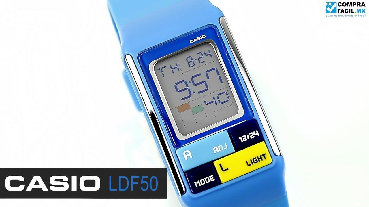 c7040798bcfd Reloj Casio Poptone LDF50 Azul - www.CompraFacil.mx - YouTube