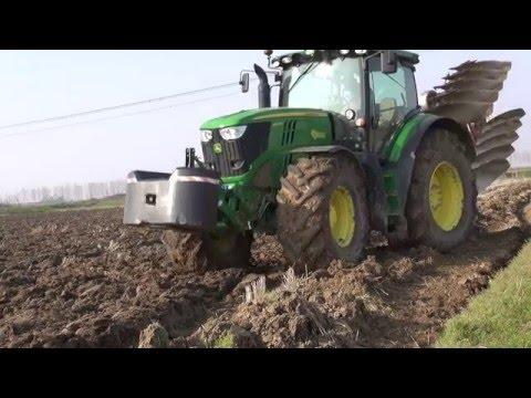 PLOUGHING 2014 - JOHN DEERE 6210R AutoPowr + VOGEL & NOOT Euromat 5-Furrow